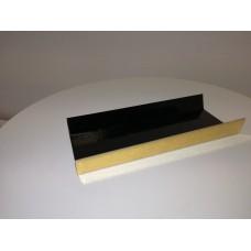 Stačiakampiai padėkliukai desertams aukso/juoda, U formos 13 x 4.5 cm dydžio