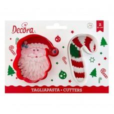 Sausainių formelės Kalėdų senelis ir saldainis