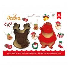 Sausainių formelės Kalėdų senelis ir elnias