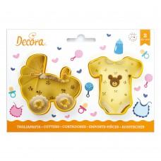 Sausainių formelės smėlinukas ir vežimėlis