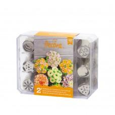 Konditerinių antgalių rinkinys 3D gėlėms Nr.2