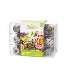 Konditerinių antgalių rinkinys 3D gėlėms Nr.3