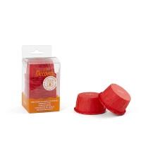 Klostuoti kepimo krepšeliai raudonos spalvos, 25vnt