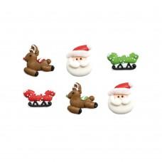 Cukrinės dekoracijos Kalėdų senelis