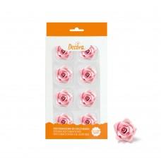Cukrinės dekoracijos - vidutinės rožės