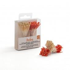 Gėlių kuokeliai orandžinė/balta(perlo)