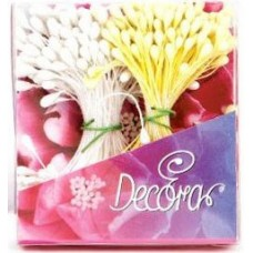 Gėlių kuokeliai mažesni/didesni geltona/balta(perlo)