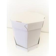 Dėžė tortui šešiakampė, 34x34x36cm