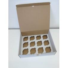 Kartoninė dėžė 12-ai  keksiukų