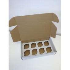 Kartoninė dėžė 8-iems keksiukams
