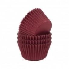Kepimo krepšeliai keksiukams, burgundiškos spalvos 30vnt