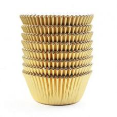Kepimo krepšeliai keksiukams, aukso spalvos 30vnt.