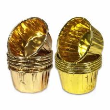 Auksiniai keksiukų krepšeliai, pasirinkite atspalvį. 25vnt