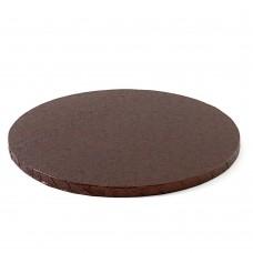 Apvalūs rudi padėkliukai tortui 12mm storio