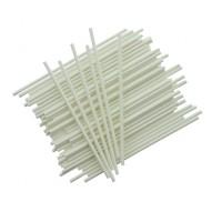 Popieriniai pagaliukai popsiukams balti, 15 cm, 50vnt.