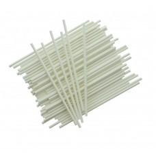 Popieriniai pagaliukai popsiukams balti, 10 cm, 25vnt.