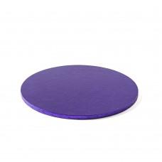Apvalūs violetiniai padėkliukai tortui 12mm storio