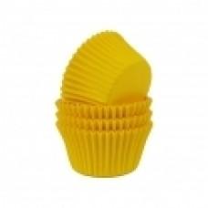 Kepimo krepšeliai keksiukams, geltonos spalvos 30vnt
