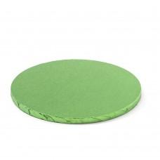 Apvalūs šviesiai žali padėkliukai tortui 13mm storio