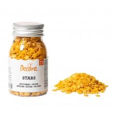 Auksinės spalvos žvaigždutės pabarstukai 60gr