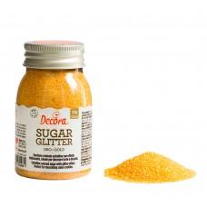 Auksinės spalvos blizgantis cukrus