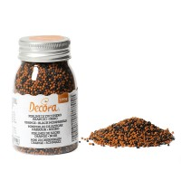 Orandžiniai/juodi maži pabarstukai 100g ⌀ 1,5 mm