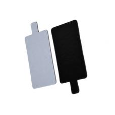 Stačiakampiai padėkliukai desertams balta/juoda 9,5 x 5,5 cm dydžio