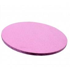 Apvalūs šviesiai rožiniai torto padėkliukai 12 mm storio
