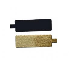 Stačiakampiai padėkliukai desertams aukso/juoda 9,5 x 5,5 cm dydžio