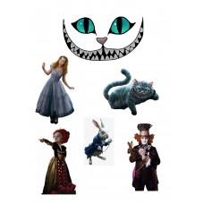 Valgomas paveikslėlis Alisa stebuklų šalyje - figūrėlės