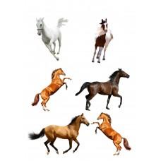 Valgomas paveikslėlis - žirgų figūrėlės