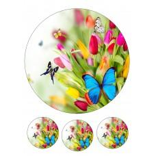 Valgomas paveikslėlis Gėlės - Drugeliai