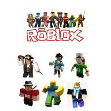 Valgomas paveikslėlis Roblox figūrėlės