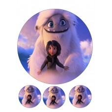 Valgomas paveikslėlis  Sniego vaikis ir draugai