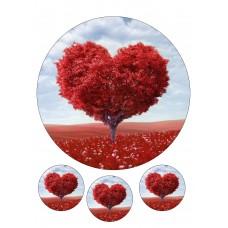 Valgomas paveikslėlis Meilė - medis