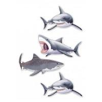 Valgomas paveikslėlis Rykliai figūrėlės