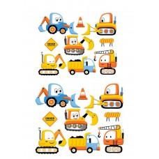 Valgomas paveikslėlis Vaikiškos darbo mašinėlės figūrėlės