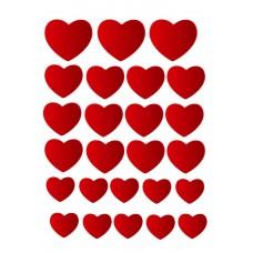 Valgomas paveikslėlis Meilė - širdelės figūrėlės