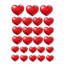 Valgomas paveikslėlis Meilė - širdelės 2 figūrėlės