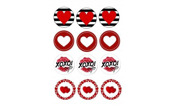 Valgomi paveikslėliai keksiukams Meilė širdelės keksiukams