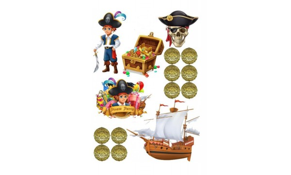 Valgomas paveikslėlis, Piratai figūrėlės