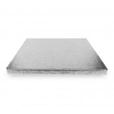 Kvadratiniai sidabriniai padėkliukai tortui 13mm storio